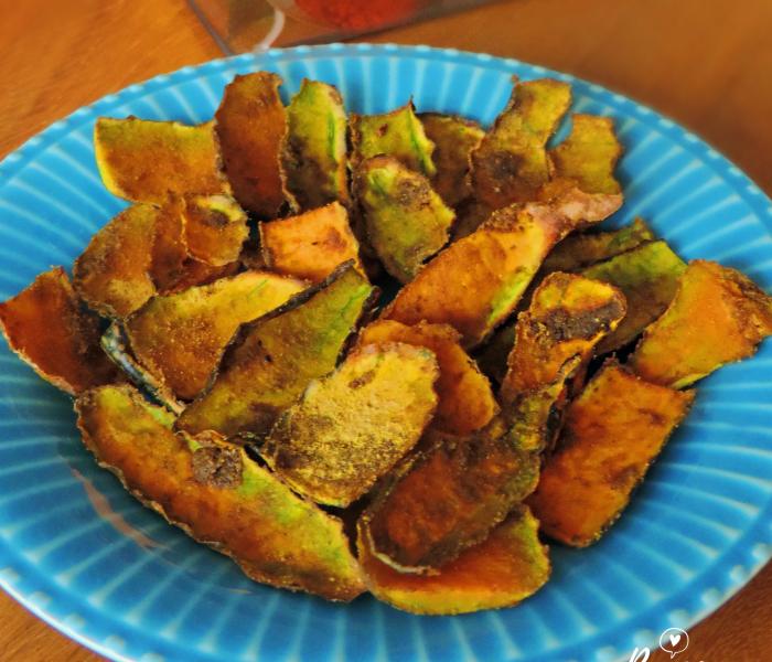 Chips de Casca de Abóbora