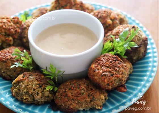Falafel Assado (vegano e sem glúten)